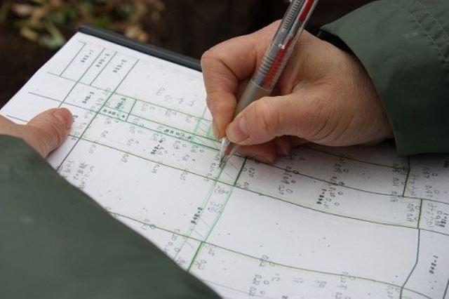 4. 採取地点を圃場マップ上に記録。