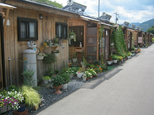 2012年9月の住田町の中上木造仮設住宅団地